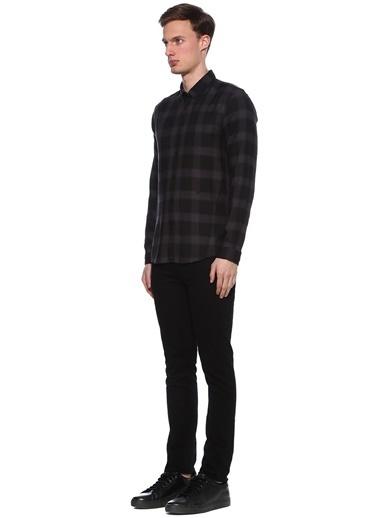 Junk De Luxe Kareli Uzun Kollu Gömlek Gri